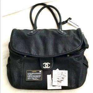 ❤️Chanel❤️ Black Leather weekend bag